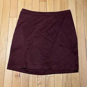 Woman's Abbeline Maroon Suede Skirt Medium